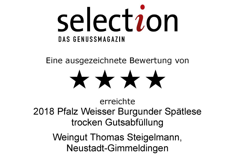 Weißer Burgunder Spätlese trocken 2018