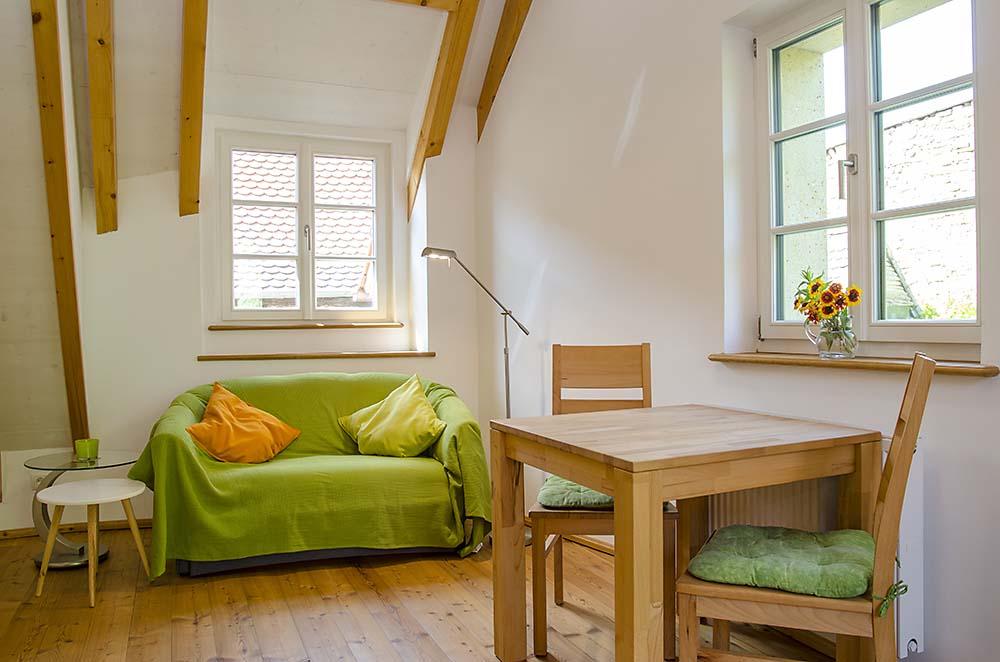 Wohn-/Essbereich (3) - Apartment Idig, Gästehaus Meerspinne