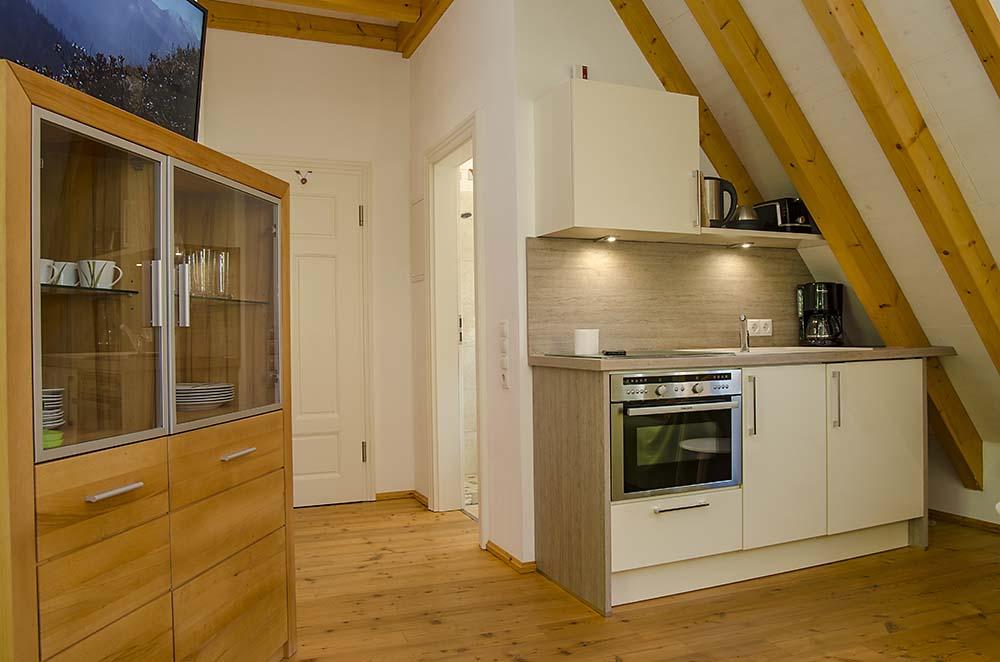 Küchenzeile - Apartment Idig, Gästehaus Meerspinne